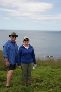 Chuck and Mavis at Urupukapuka Island.