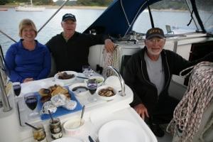 Mavis, Chuck, and Jerry anticipating Thanksgiving.