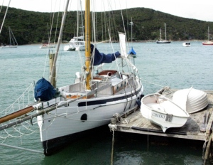 Taleisin and Cheeky at the dock