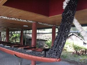 Maori war canoe stern