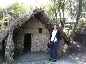 Traditional Maori construction.